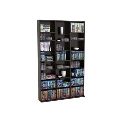 Atlantic 38435713 Oskar - Media storage - paper  wood composite  PVC laminate - espresso DVD  CD  BD-ROM - floor-standing