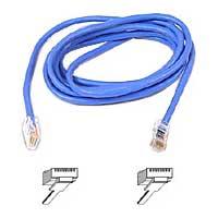 Belkin A3L791-07-BLU-S Patch cable - RJ-45 (M) to RJ-45 (M) - 7 ft - UTP - CAT 5e - snagless - blue - for Omniview SMB 1x16  SMB 1x8  OmniView IP 5000HQ  OmniVi
