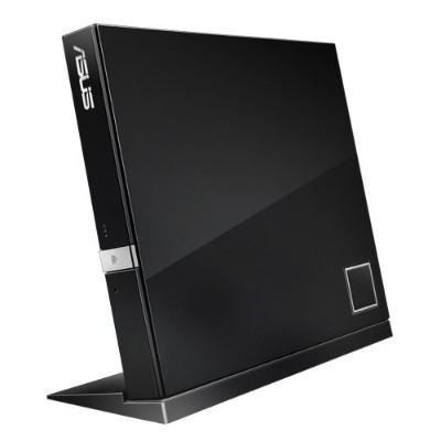 ASUS SBC-06D2X-U SBC-06D2X-U - Disk drive - DVD±RW (±R DL) / DVD-RAM / BD-ROM - 6x - USB 2.0 - external - black