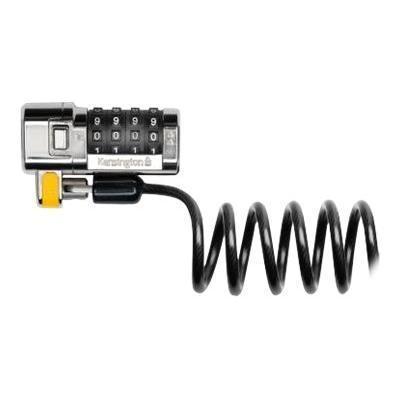 Kensington K64698US ClickSafe Portable Combination Laptop Lock - Security cable lock - black - 6 ft
