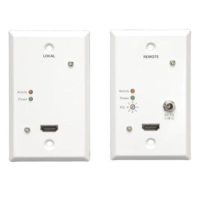 TrippLite B125-101-60-WP HDMI over Dual Cat5/6 Extender Kit  Wallplate Transmitter/Receiver  Video and Audio  1920x1200 1080p/60p  Up to 125-ft.