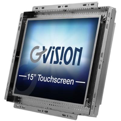 GVISION USA K15TX-CB-0630 K15TX-CB - LCD monitor - 15 - open frame - touchscreen - 1024 x 768 - 250 cd/m² - 700:1 - 8 ms - DVI  VGA
