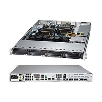 Super Micro SYS-6017R-TDAF Supermicro SuperServer 6017R-TDAF - Server - rack-mountable - 1U - 2-way - RAM 0 MB - SATA - hot-swap 3.5 - no HDD - G200eW - GigE -