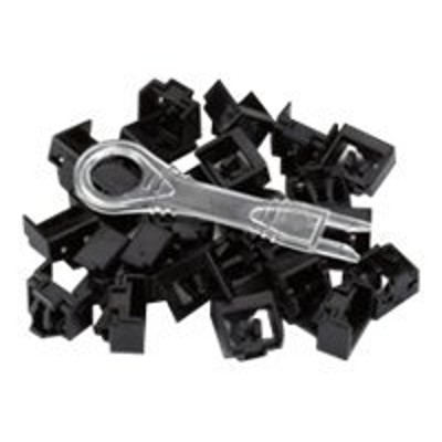 Black Box PL-AB-BK-25PAK Port Lock 25 Pack & Key Black