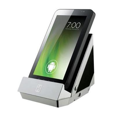 Portable Stand Stereo Speaker and Charging Dock for Android Tablets and Smartphones