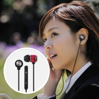 Maxell iPhone Flatwire Earbuds with Built-IN Microphone - Pink/Black