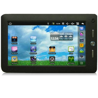 7 LCD Mobility Tablet Powered By Android 700MHz + 500MHz 256MB DSP Memory 2GB Flash