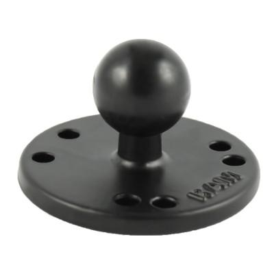 RAM Mounts RAM-B-202U RAM 2.5 Round Ball Base with the AMPs Hole Pattern & 1 Ball
