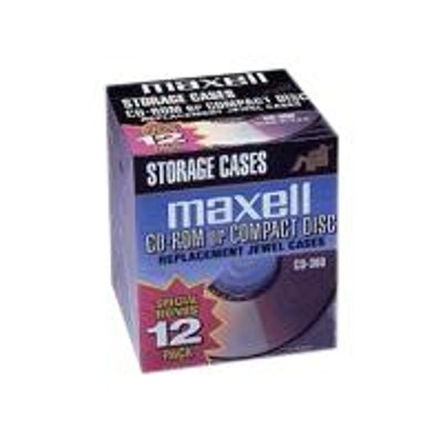 Maxell 190069 CD/DVD Jewel Case -12 Pack
