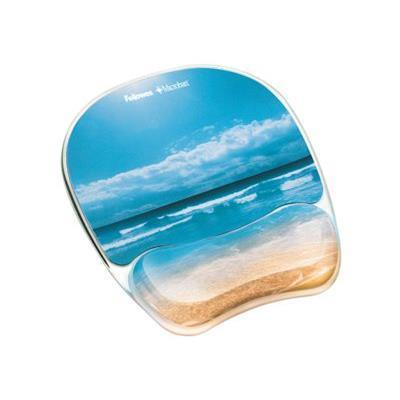 Fellowes 9179301 Photo Gel - Mouse pad with wrist pillow - multicolor  sandy beach