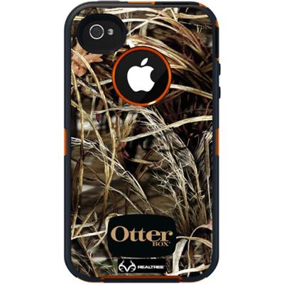 iPhone 4 / 4S Defender Series with Realtree Camo - Max 4HD Blazed