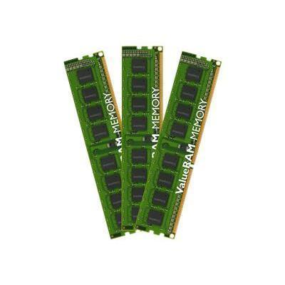 Kingston KVR13N9K3/24 ValueRAM - DDR3 - 24 GB: 3 x 8 GB - DIMM 240-pin - 1333 MHz / PC3-10600 - CL9 - 1.5 V - unbuffered - non-ECC