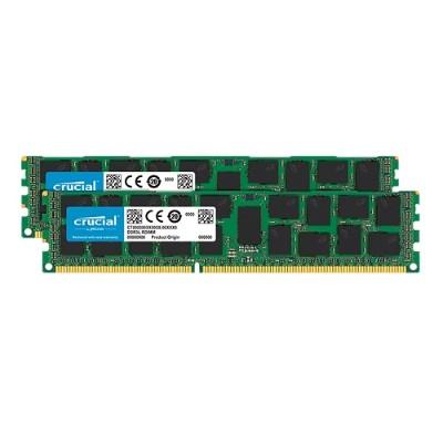 Crucial CT2K16G3ERSLD4160B DDR3 - 32 GB : 2 x 16 GB - DIMM 240-pin - 1600 MHz / PC3-12800 - registered - ECC