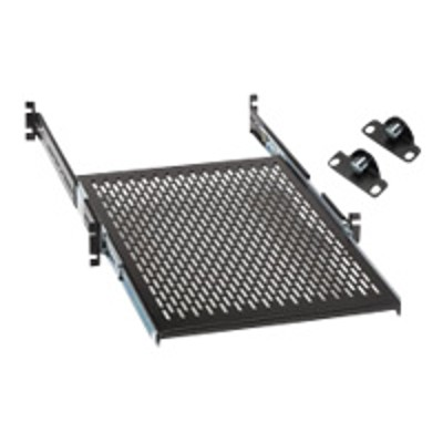 Black Box RMS1924S-LOCK Rackmount Vented Sliding 4-Point Shelf - Rack shelf - 19
