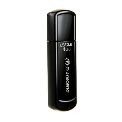 Transcend TS4GJF350 JetFlash 350 - USB flash drive - 4 GB - USB 2.0 - black