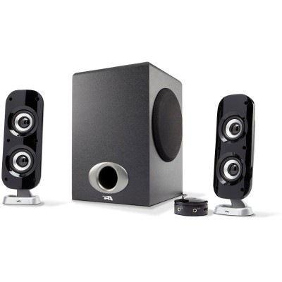 Cyber Acoustics CA-3810 76W Peak Power - Speaker System with Control Pod