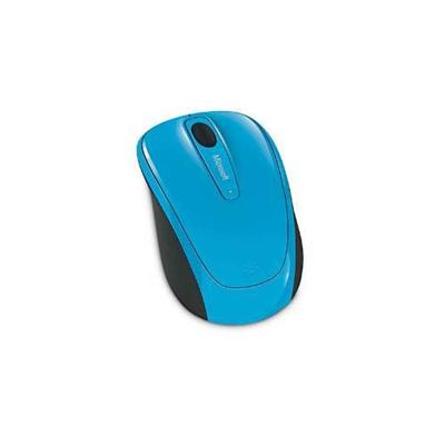 Microsoft GMF 00273 Wireless Mobile Mouse 3500 Mouse optical 3 buttons wireless 2.4 GHz USB wireless receiver cyan blue