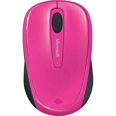 Microsoft GMF 00278 Wireless Mobile Mouse 3500 Mouse optical 3 buttons wireless 2.4 GHz USB wireless receiver magenta