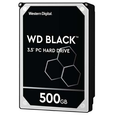 WD WD5003AZEX Black 500GB Performance Desktop Hard Disk Drive - 7200 RPM SATA 6 Gb/s 64MB Cache 3.5 Inch 9255456