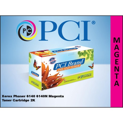 Premium Compatibles 106R01478-PCI PCI Xerox 106R01478 Magenta Toner Cartridge 2K Yield for use in Xerox Phaser 6140 6140N...
