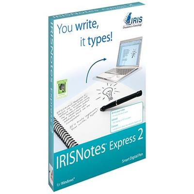 Iris 457488 Notes Express 2 - Digital pen - ultrasound - wireless - infrared - USB wireless receiver