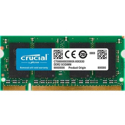 Crucial CT2G2S800M 2GB DDR2 800MHZ (PC2-6400) CL6 SODIMM 200 PIN FOR MAC