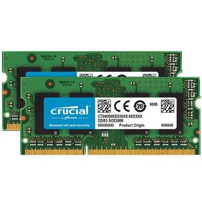 Crucial CT2K2G3S1339M 4GB KIT (2GBX2) DDR3 1333 MT/S (PC3-10600) CL9 SODIMM 204PIN 1.35V/1.5V FOR MAC