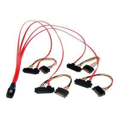 StarTech.com SAS808782P50 50cm Serial Attached SCSI Mini SAS Cable SFF8087 to 4x SFF8482 - SAS internal cable - SAS 6Gbit/s - 36 pin 4i Mini MultiLane (P) to SA