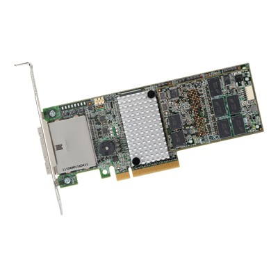LSI Logic LSI00333 MegaRAID SAS 9286CV-8e - Storage controller (RAID) - SATA 6Gb/s / SAS low profile - 600 MBps - RAID 0  1  5  6  10  50  JBOD  60 - PCIe 3.0 x
