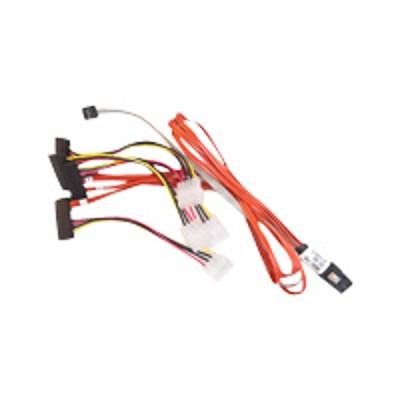 Adaptec 2275300-R SAS internal cable - with Sidebands - SAS 6Gbit/s - 4-Lane - 36 pin 4i Mini MultiLane (M) to 4 pin internal power  29 pin internal SAS (SFF-84