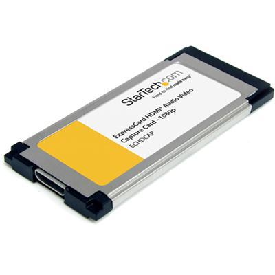 StarTech.com ECHDCAP HDMI to ExpressCard HD Video Capture Card Adapter 1080p - Video capture adapter - ExpressCard - NTSC  PAL  PAL-M  PAL 60