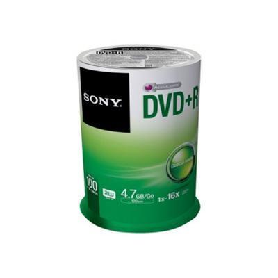 16x DVD+R 4.7GB Recordable DVD Media - 100 Pack Spindle