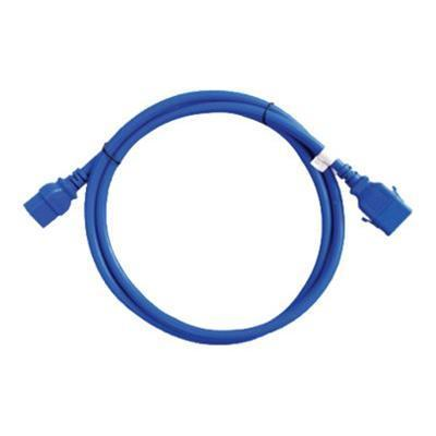 Raritan Computer SLC14C13-4FTK2-6PK SecureLock - Power cable - IEC 320 EN 60320 C14 to IEC 320 EN 60320 C13 - 4 ft - coiled - blue (pack of 6 )