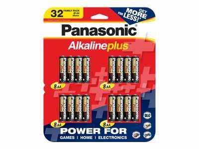 Panasonic K-kjla12/fp1 Alkaline Plus 32 Family Pack - Battery - Aa - Alkaline X 32