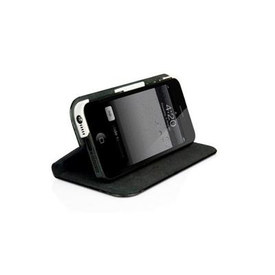 Slim Folio Case with Stand for iPhone 5 - Black/White