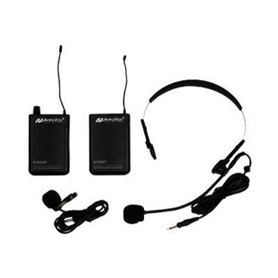 AmpliVox Sound Systems S1601 Wireless 16 Channel UHF Lapel & Headset Mic Kit