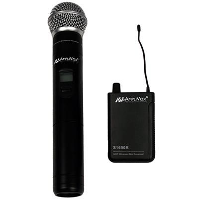 AmpliVox Sound Systems S1623 Wireless 16 Channel UHF Handheld Mic Kit