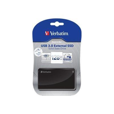 Verbatim 47622 Store 'n' Go External SSD - Solid state drive - 128 GB - external (portable) - USB 3.0 - sleek black