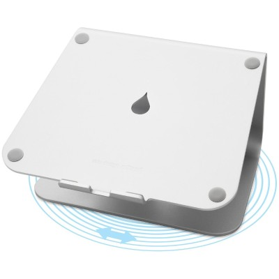 Rain Design 10036 mStand360 (with rotating base) - Aluminum with Silver Anodized Finish
