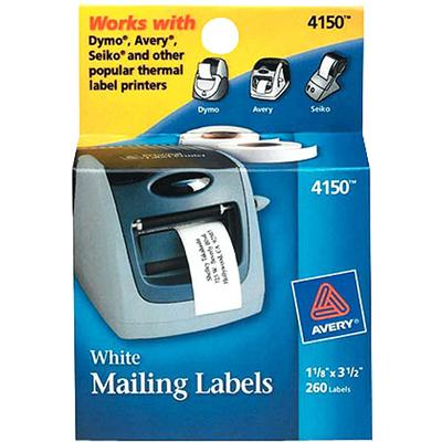 Address labels - white - Roll (1.1 in x 38 ft) - 260 pcs.
