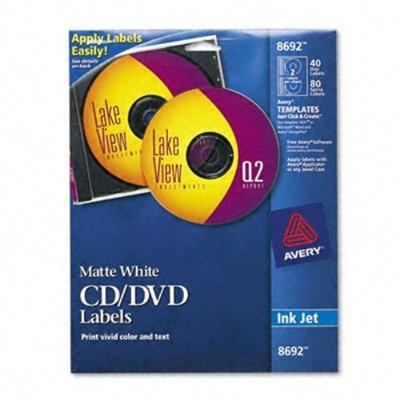 Avery Dennison 8692 Labels - white - 20 pcs. 2 )