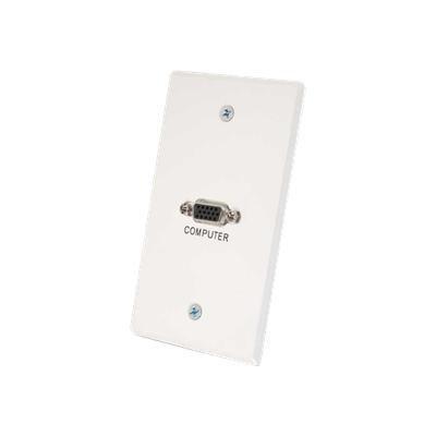 Cables To Go 41023 ALUM SG VGA WHITE WALL PLATE