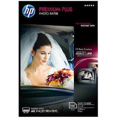 HP Inc. CR666A Premium Plus Soft-gloss Photo Paper-100 sheet (4 x 6 in)