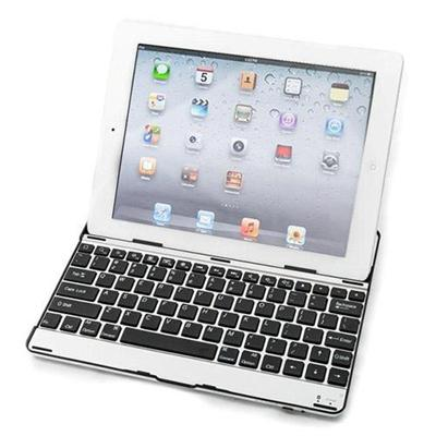 Aluminum Bluetooth keyboard cover for new iPad (4th generation)  iPad 3rd generation & iPad 2 - Black