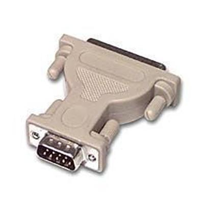 Cables To Go 02450 Serial adapter - DB-9 (M) to DB-25 (M) - white