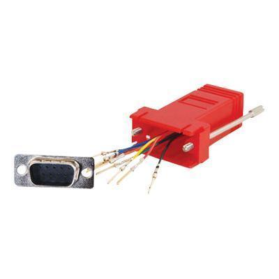 Cables To Go 02949 RJ45/DB9M Modular Adapter Red