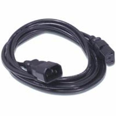 Cables To Go 03143 10ft 18 AWG Computer Power Extension Cord (IEC320C14 to IEC320C13) (TAA Compliant) - Black