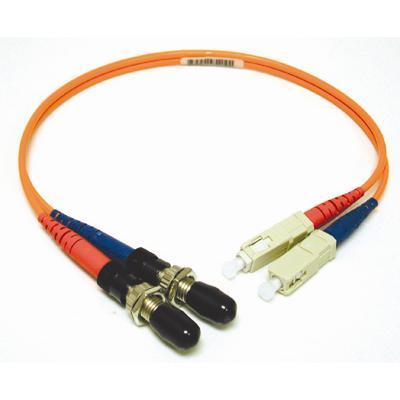 C2G 17602 OM1 Multimode ST Female to SC Male Fiber Adapter Cable - Network cable - ST multi-mode (F) to SC multi-mode (M) - 1 ft - fiber optic - 62.5 / 125 micr
