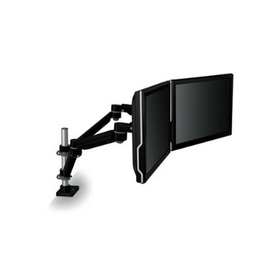 3M MA260MB Dual Monitor Arm  Easy-Adjust Black Brown Box
