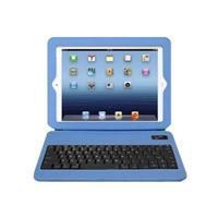 Aluratek Slim Color Folio Case with Bluetooth Keyboard - Keyboard and folio case - Bluetooth - sky blue - for Apple iPad (3rd generation); iPad 2; iPad with Retina display (4th generation)